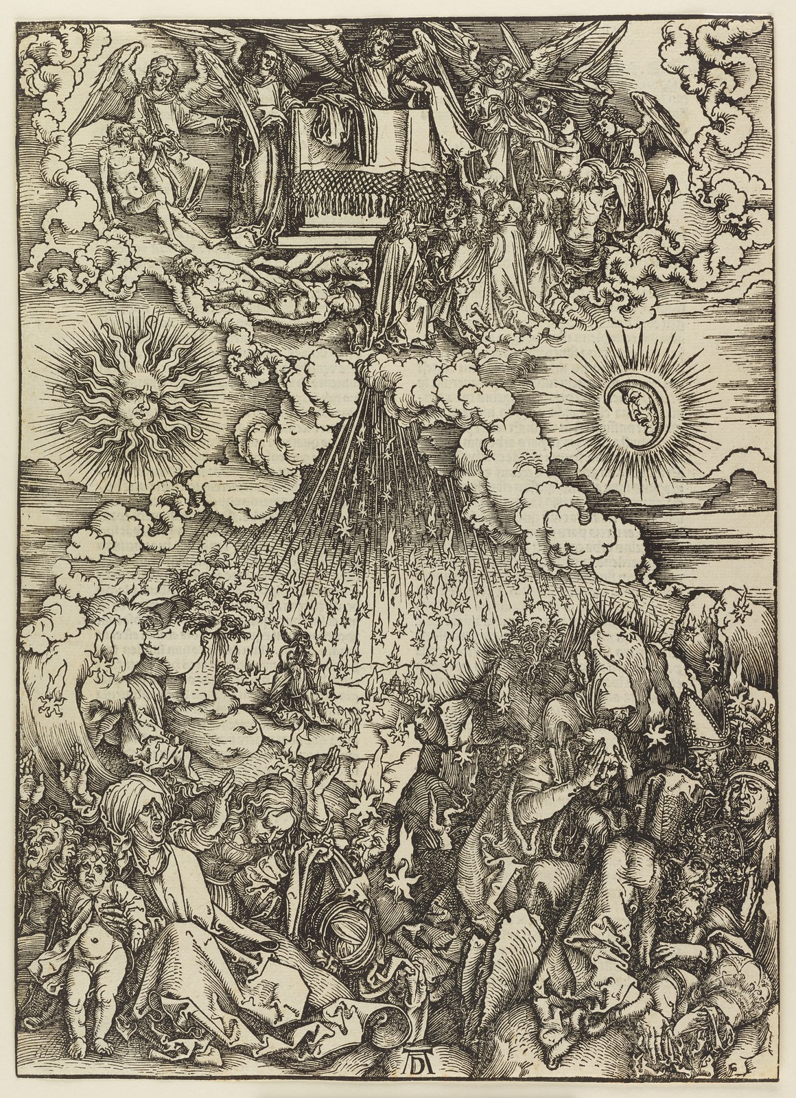 Albrecht Dürer - Opening of the fifth and sixth seals, Plate five of fifteen from the Latin edition of The Apocalypse series, printed 1511