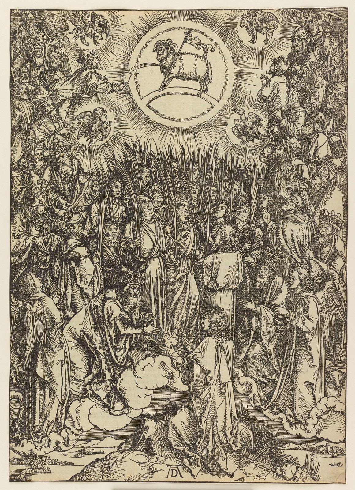 Albrecht Dürer - Adoration of the Lamb, Plate thirteen of fifteen from the Latin edition of The Apocalypse series, printed 1511