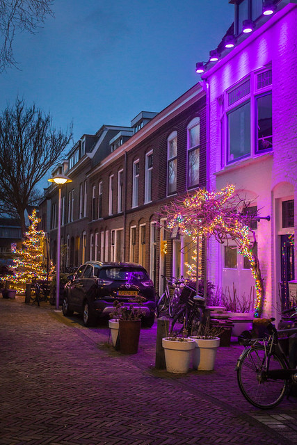 Christmas lights in Hennepstraat