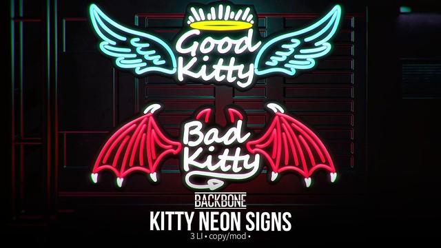 BackBone Kitty Neon Signs