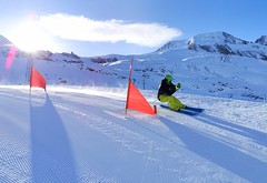 Skicrossová trať na modré sjezdovce č. 4
