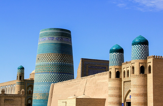 Happy Friday! / The mosque with the unfinished minaret in Khiva, Uzbekistan
