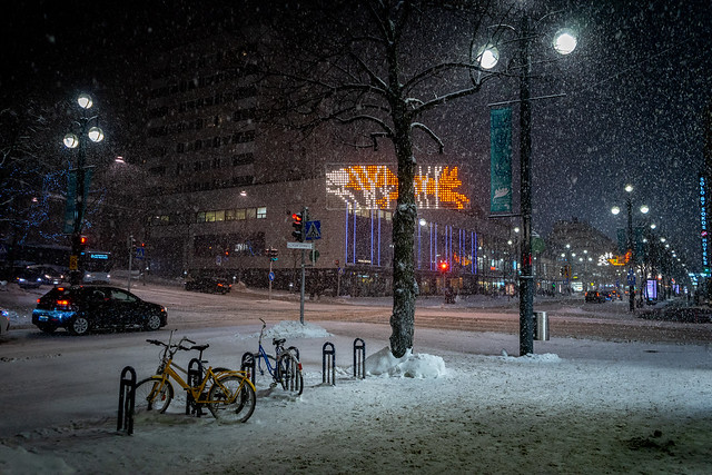 Snowstorm in the Downtown , Lahti