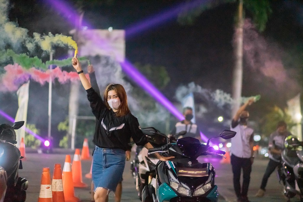 "Keseruan ""Night Slazh with All New Aerox 155 Connected"" di Palembang  (2)"