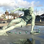 Statue of Sir Tom Finney ( The Splash ) @ Preston North End's Deepdale Stadium