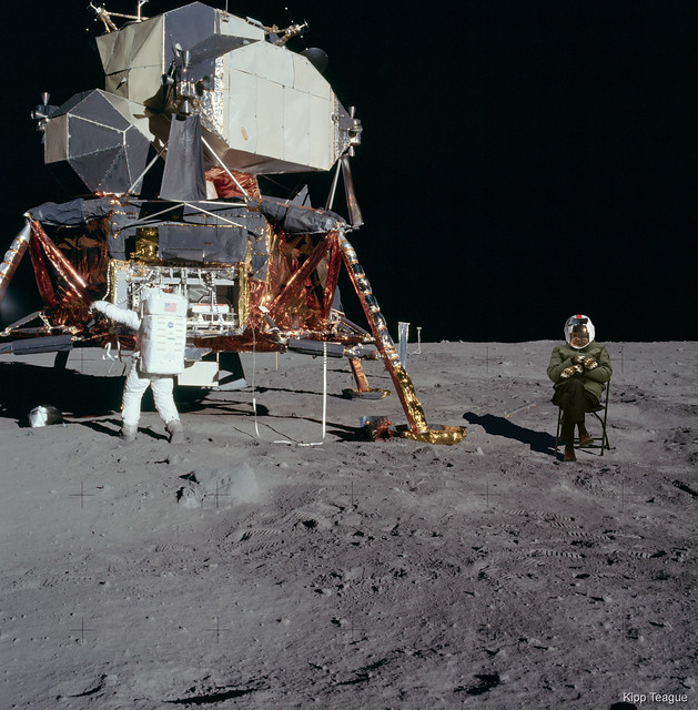 just for fun - Bernie on the Moon