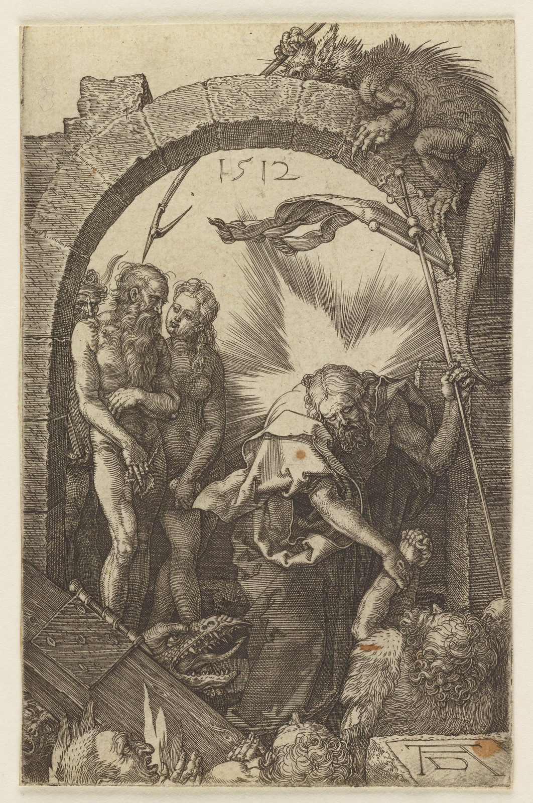 Albrecht Dürer - Harrowing of Hell, from the Engraved Passion series,  1512