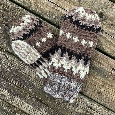Vermont's Finest (Bernie's Mittens) by Meg Harlan is another mitten pattern inspired by the pair worn by Bernie Sanders at the Biden Inauguration and given to him by Jen Ellis.