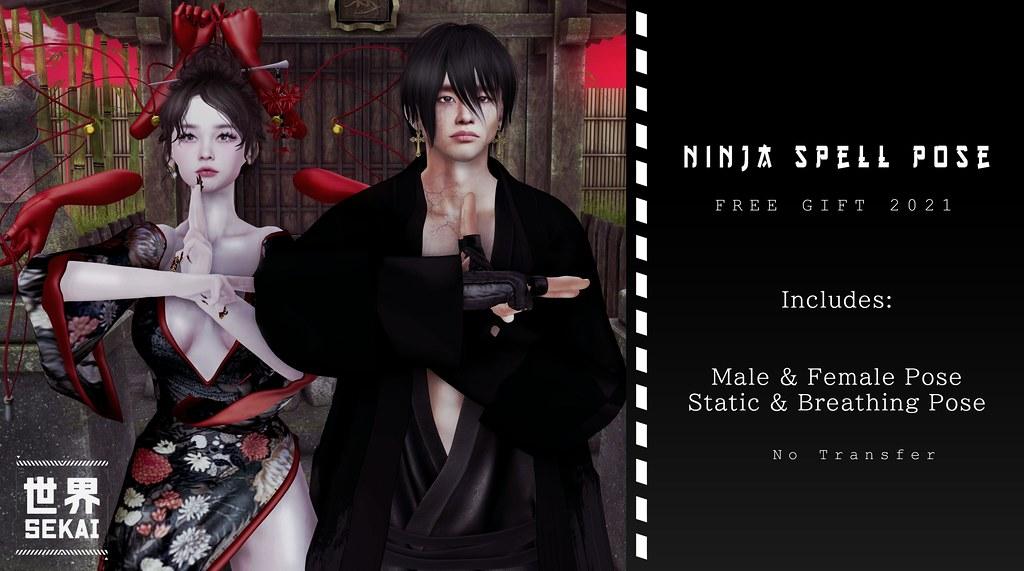 +SEKAI+ Ninja Spell Pose [Group Gift]