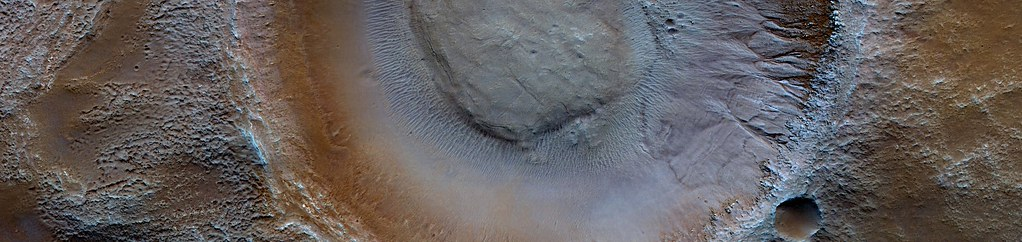 Mars - Gullies with Tributary Channels in Gorgonum Chaos Crater