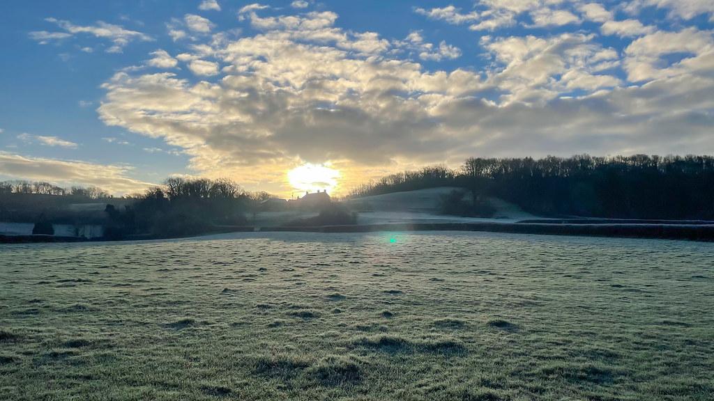 Frosty Sunrise & Clouds