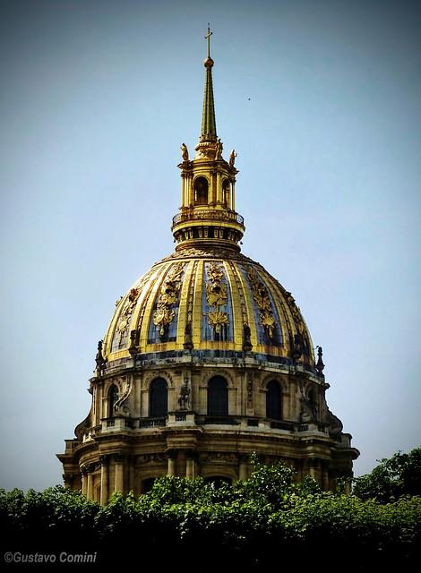 Cúpula de la Catedral San Luis de los Inválidos - Vista desde el jardín del Museo Rodin