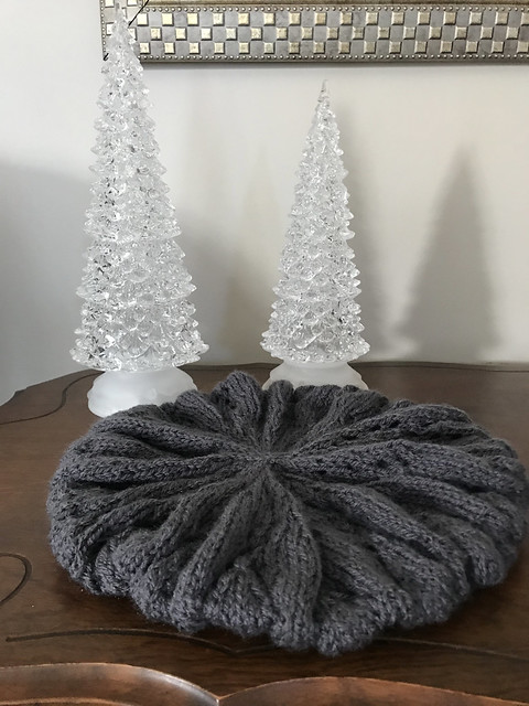 Jan had a request to knit a hat for her granddaughter out of a non-animal fibre. She knit That Other Hat by Double Ewe yarn shop using Bergère de France Barisienne.