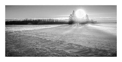 lens wideangle snow winter sunsetting sun sunny fujifilm farming farms canada alberta edmonton landscape vanveenjf barns trees cold warm namao kanada