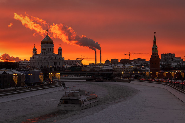 Winter Sunset in Moscow