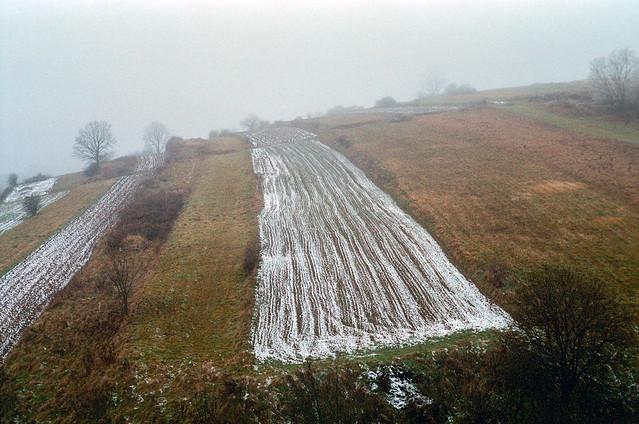 Hilly farmland, Poland.