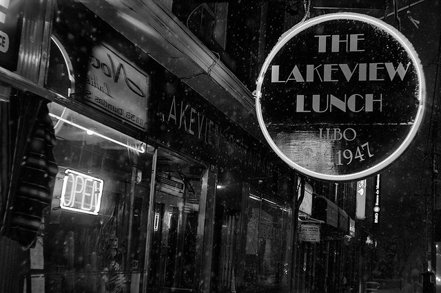 Snowy Night - The Lakeview Lunch