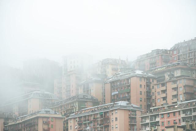 mist in buildings