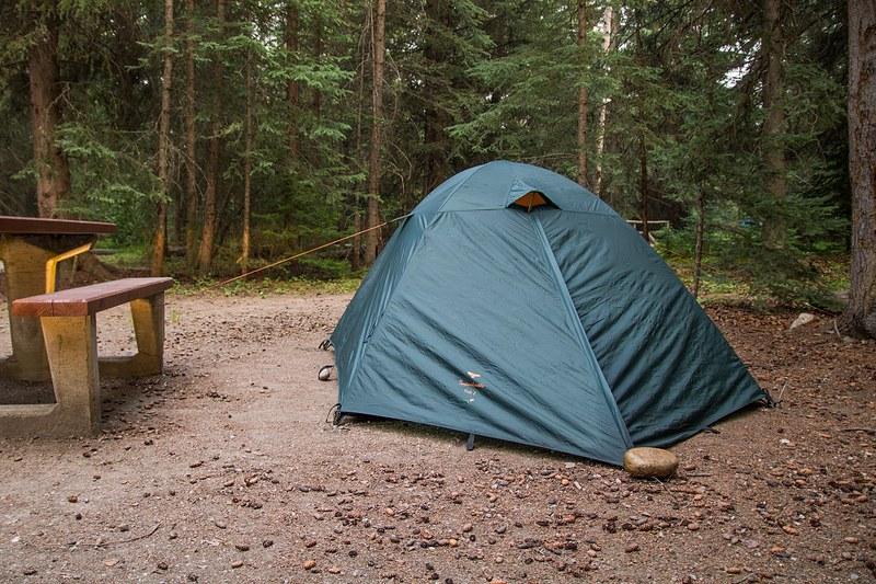 Leirintäalue, Jasper, telttailu kalliovuorilla