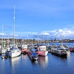 Blue skies over Preston Marina
