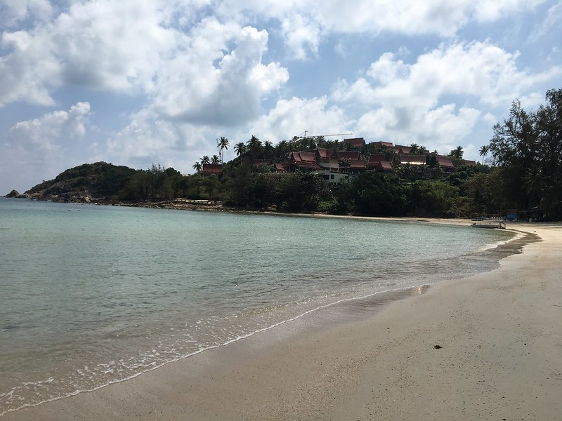 Choengmon beach walking koh samui チョンモンビーチ サムイ島
