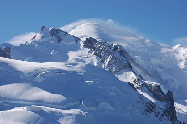 El Mont-Blanc vist des de l'Aiguille du Midi (Chamonix)