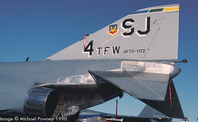 73-1172 - 1973 fiscal McDonnell Douglas F-4E Phantom II, wearing special tail marks as  4TFW