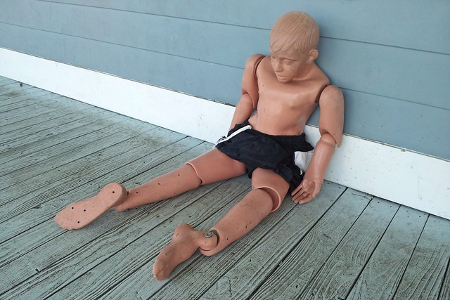 Lifesaving dummy at Chesapeake Beach Water Park