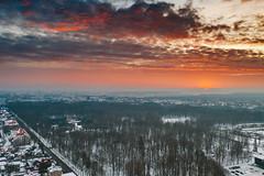 Sunrise| Kaunas aerial