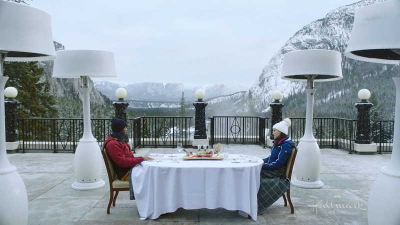 The hotel terrace scene