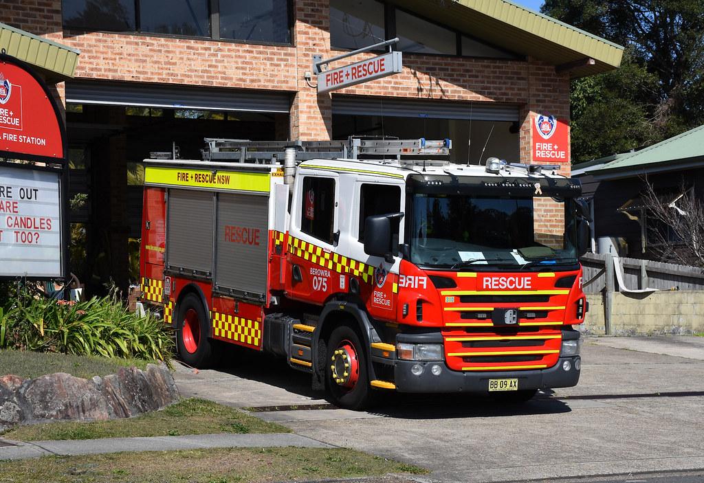 Fire Engine, Fire Station, Berowra, Sydney, NSW.