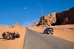 Road to Wadi Rum - Jordan.