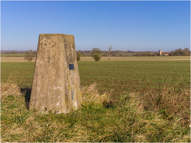 Trig point at Camps End