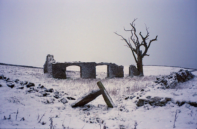 Cow Low Croft in the snow. Leica M6 and Portra 160.