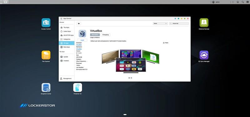 ASUSTOR ADM - App Central - VirtualBox