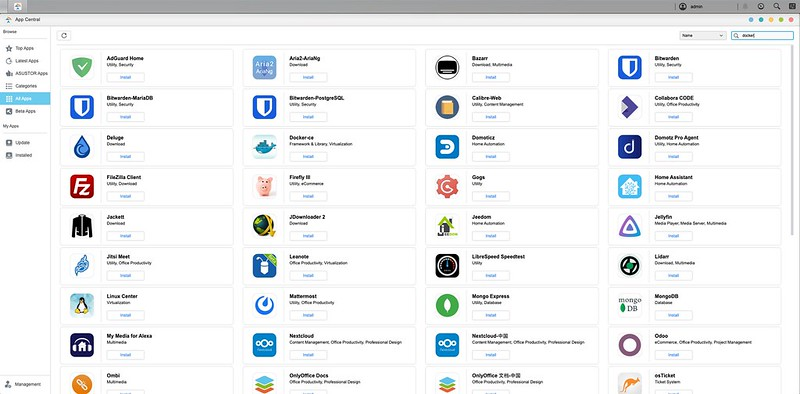 ASUSTOR ADM - App Central - Search