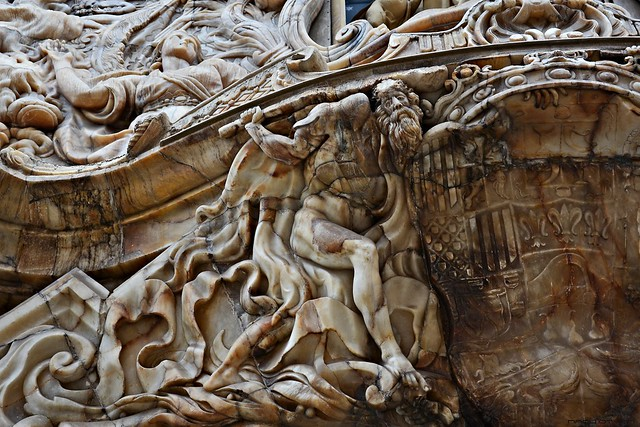 Alabaster Sculptures at the portal of the Palace of Marques de Dos Aguas in Valencia #3