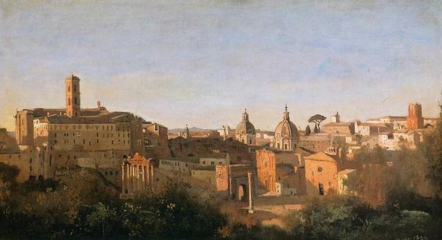 Camille Corot, Rom, Blick von den Farnesischen Gärten auf das Forum  – The Forum seen from the Farnese Gardens