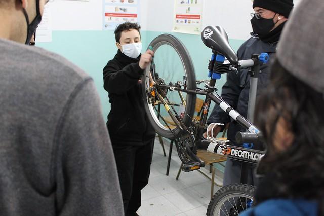 Taller de mecánica de bicicletas en la cárcel de Burgos 2021-2021
