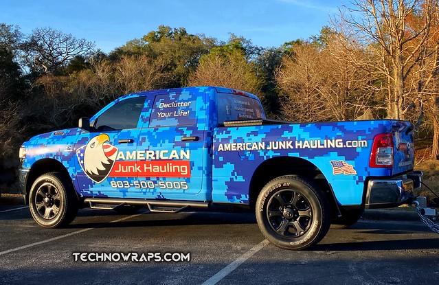 Pickup truck wrapped in digicamo vinyl wrap in Orlando