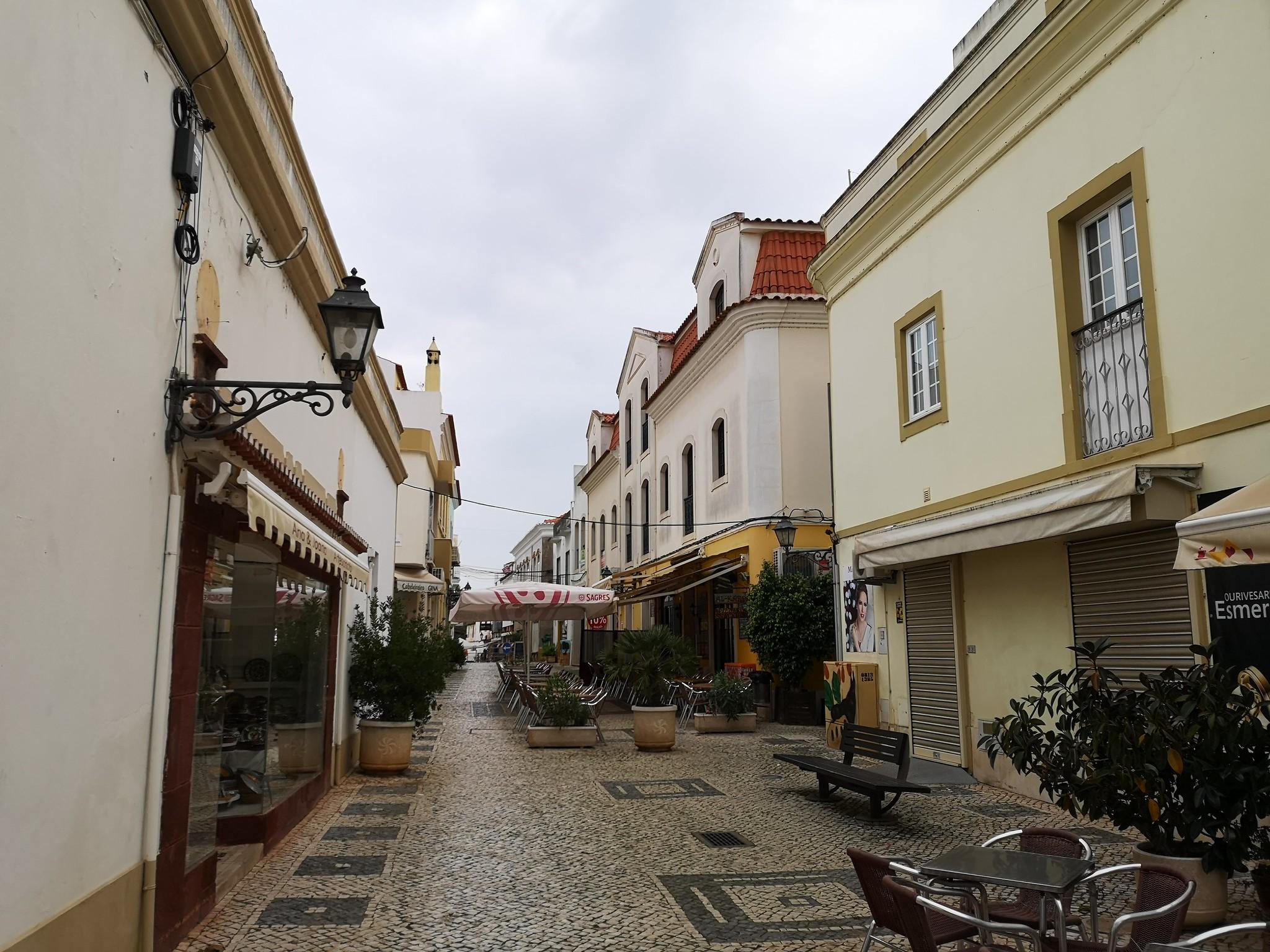 edificios y calles de Silves Algarve Portugal