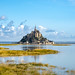 When the tide recedes, the salt meadows become a grazing area @ Mont-Saint-Michel.