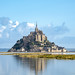 In the morning, Mont-Saint-Michel is still an island.