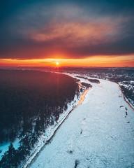 Neris river | Kaunas aerial #22/365