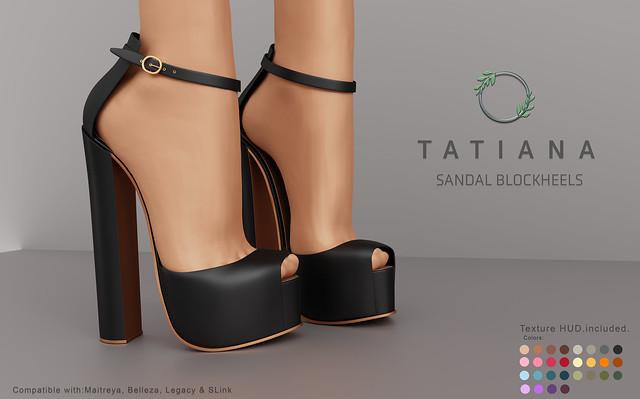 Ohemo - Tatiana blockheel sandals for Cosmo