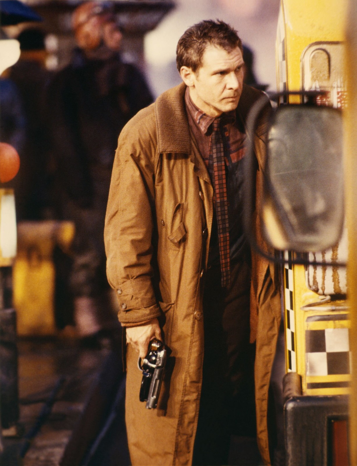 Харрисон Форд на съемках фильма «Бегущий по лезвию»  (2)