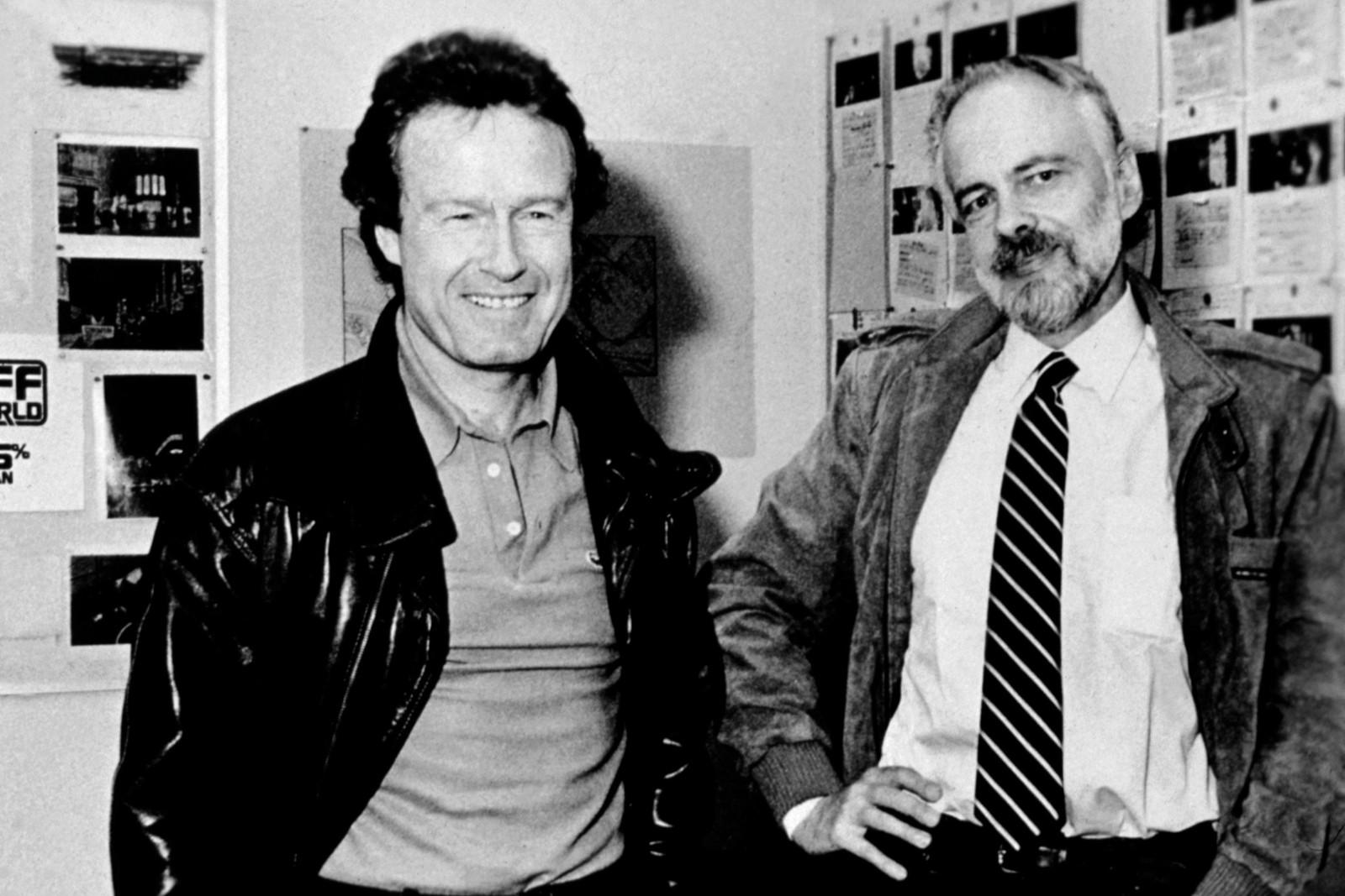 Ридли Скотт и Филип Дик (справа) в студии