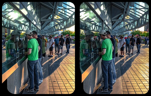 Rogers centre ticket counter 3-D / CrossView / Stereoscopy
