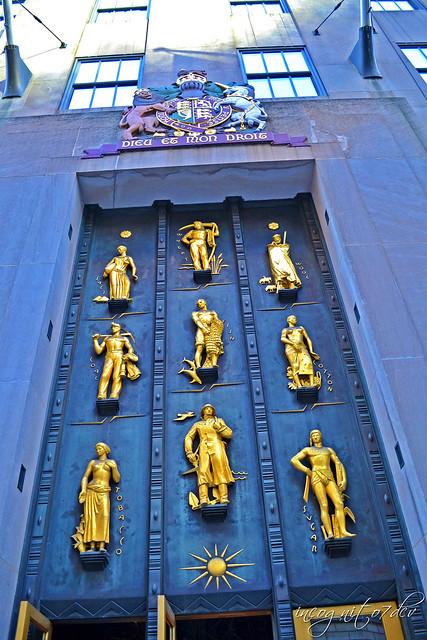 Beautiful Rockefeller Center Building Art 5th Ave Midtown Manhattan New York City NY P00781 DSC_9585