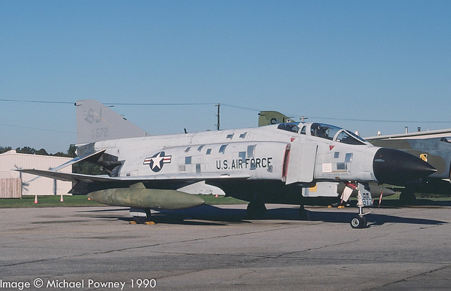 63-7672 - 1963 fiscal McDonnell Douglas F-4C Phantom II, in ground instructional use at Seymour Johnson AFB during the 1990 Community Appreciation Day